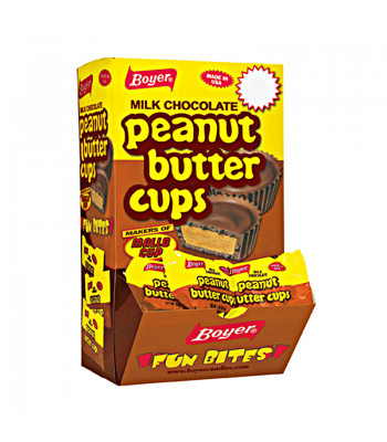 Clearance Special - Boyer Milk Chocolate Peanut Butter Cup Bite Size (Individual) 0.5oz (14g) **Best Before: 14 October 17** Clearance Zone