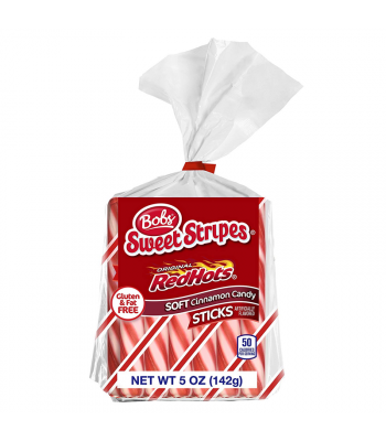 Bobs Sweet Stripes & Original RedHots Soft Cinnamon Candy Sticks - 5oz (142g) [Christmas] Sweets and Candy