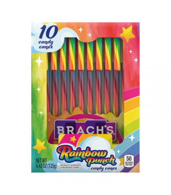 Brach's Bob's Rainbow Punch Candy Canes - 4.42oz (125g) [Christmas]  Sweets and Candy Brach's