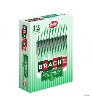 Brach's Bob's Wintergreen Candy Canes - 5.3oz (150g) [Christmas] Sweets and Candy Brach's