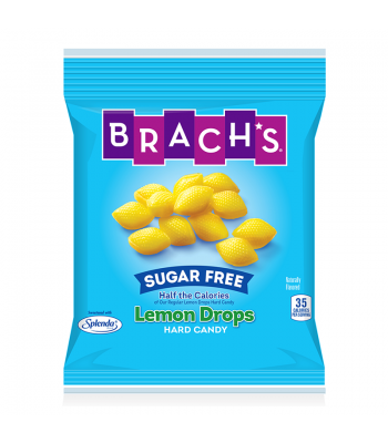 Brach's Sugar Free Lemon Drops Hard Candy 4.5oz (128g) Sweets and Candy Brach's