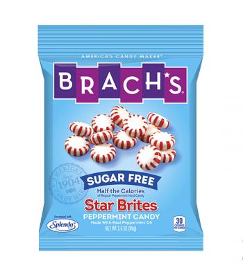 Brach's Sugar Free Star Brites Peppermint Hard Candy 3.5oz (99g) Sugar Free Brach's