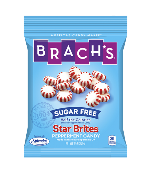 Brach's Sugar Free Star Brites Peppermint Hard Candy 3.5oz (99g) Hard Candy Brach's