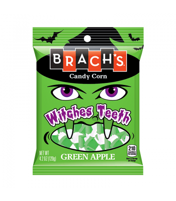 Brach's Witches Teeth Green Apple Candy Corn 4.2oz (119g) Fall & Halloween Candy 2017 Brach's
