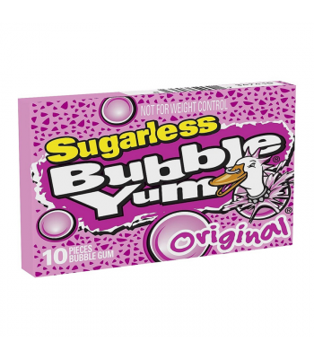 Bubble Yum Sugarless Original Gum 10-Piece - 1.76oz (50g) Sweets and Candy Bubble Yum