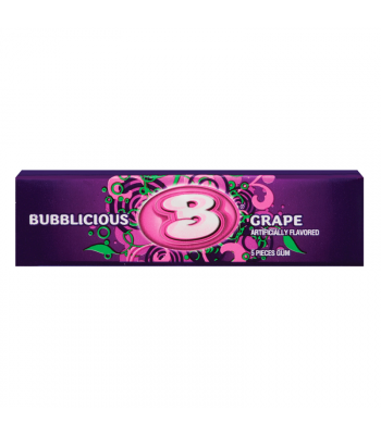 Bubblicious Grape Bubble Gum 1.4oz (40g) Bubble Gum Bubblicious