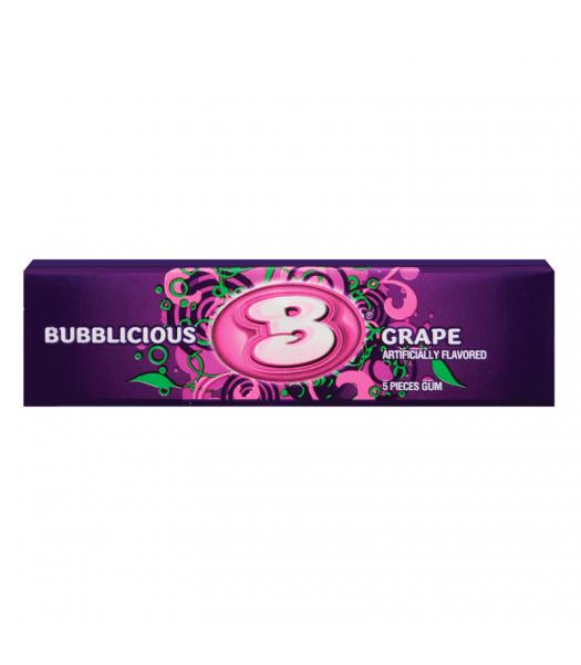Bubblicious Grape Bubble Gum 1.4oz (40g) Bubble Gum Bubblicious