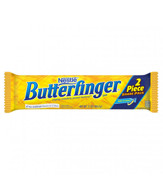 Nestle Butterfinger 2 Piece Share Pack Bar 3.7oz (104.8g) Chocolate, Bars & Treats Butterfinger