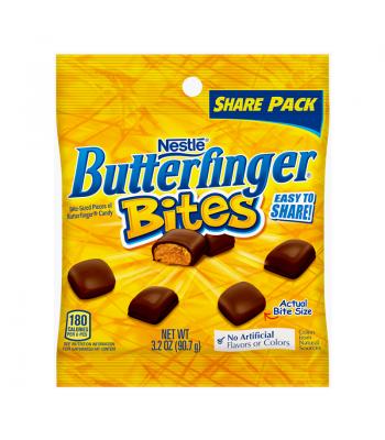 Butterfinger Bites Peg Bag 3.2oz (90.7g) Chocolate, Bars & Treats Butterfinger