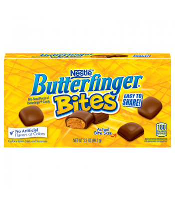 Butterfinger Bites Theatre Box 3.5oz (99.2g) Chocolate, Bars & Treats Butterfinger
