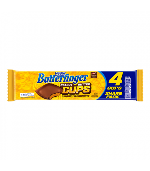 Butterfinger Peanut Butter Cups King Size 3oz (85g) Chocolate, Bars & Treats Butterfinger
