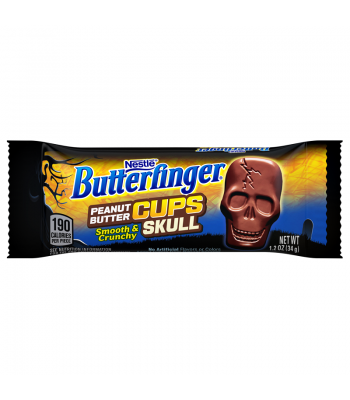 Clearance Special - Butterfinger Peanut Butter Cups - Skull - 1.2oz (34g) **Best Before: March 18** Clearance Zone