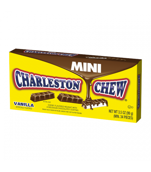Charleston Chew Mini Bites Vanilla Theatre Box - 3.5oz (99g) Sweets and Candy
