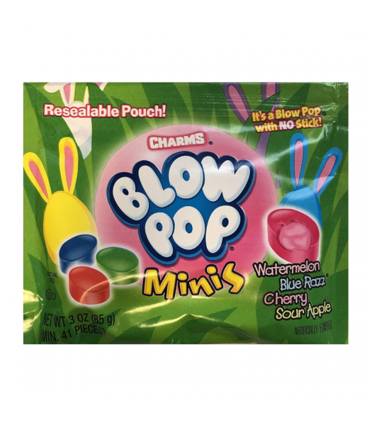 Charms Easter Blow Pop Minis Pouch - 3oz (85g) Sweets and Candy Charms