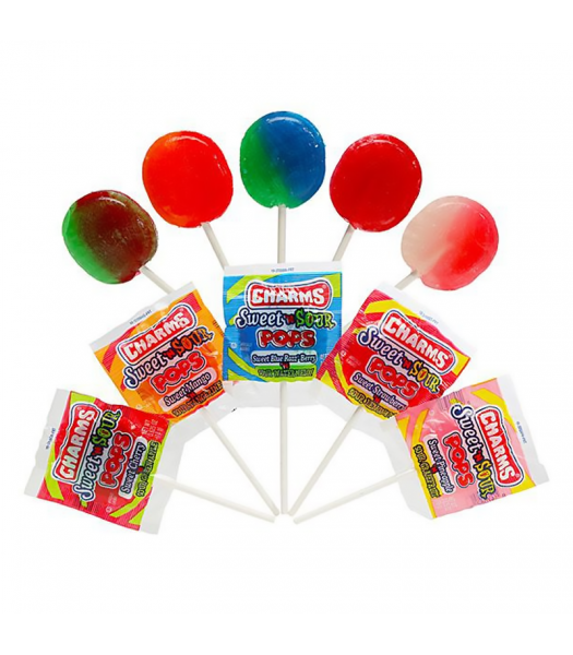 Charms Sweet 'N Sour Pop - 0.625oz (18g) Sweets and Candy Charms
