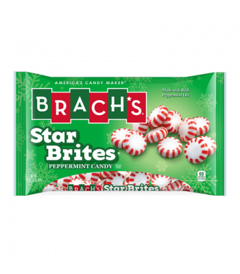 Brach's - Peppermint Star Brites Laydown Bag - 14oz (397g) [Christmas] Sweets and Candy Brach's
