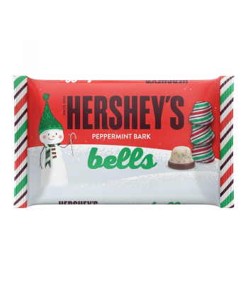 Hershey - Peppermint Bark Bells Bag - 7.8oz (221g) [Christmas] Sweets and Candy Hershey's