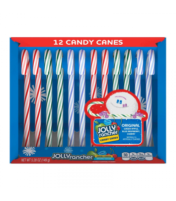 Jolly Rancher Candy Canes - 5.28oz (149g) [Christmas] Sweets and Candy Jolly Rancher