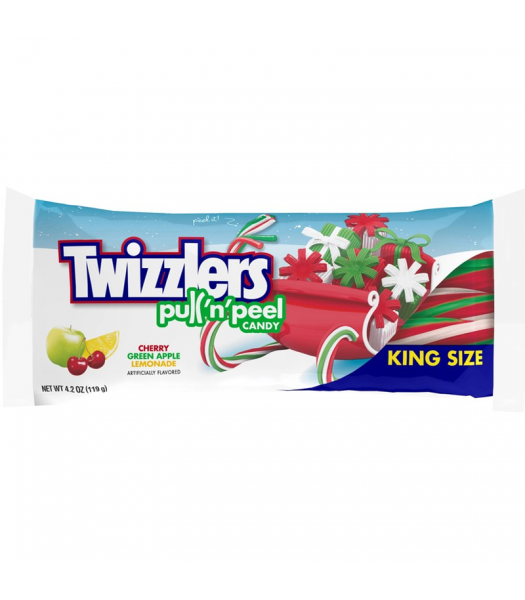 Twizzlers Holiday - Pull N Peel - 4.2oz (119g) [Christmas] Sweets and Candy Twizzlers