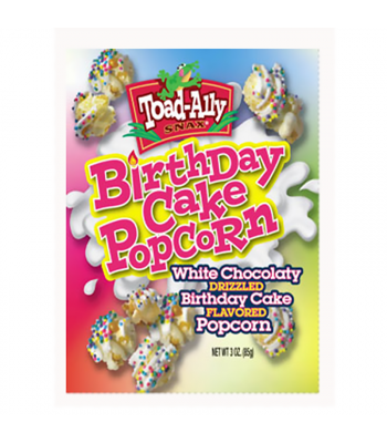 Clearance Special - Toad-Ally - Birthday Cake Popcorn - 3oz (85g) ** Best Before: 22 May 2018 ** Clearance Zone