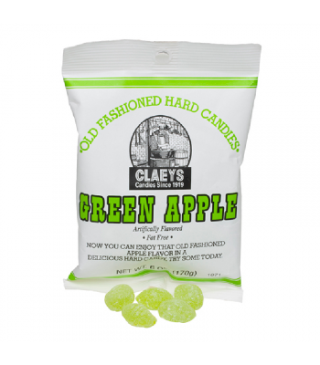 Claeys Old Fashioned Candy - Green Apple - 6oz (170g) Sweets and Candy Claeys