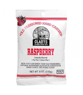 Claeys Old Fashioned Candy - Raspberry - 6oz (170g) Sweets and Candy Claeys
