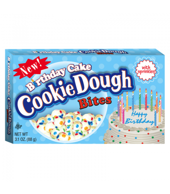 Birthday Cake Cookie Dough Bites 3.1oz (88g)  Chocolate, Bars & Treats Cookie Dough Bites