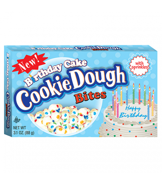 Birthday Cake Cookie Dough Bites - 3.1oz (88g)  Sweets and Candy Cookie Dough Bites