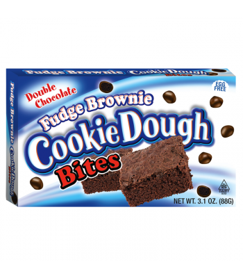 Cookie Dough Bites Fudge Brownie 3.1oz  (88g) Theatre Box Chocolate, Bars & Treats Cookie Dough Bites