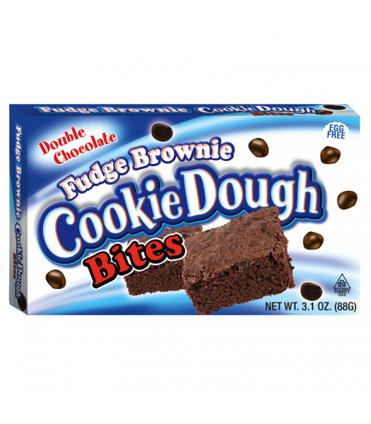 Cookie Dough Bites Fudge Brownie 3.1oz  (88g) Theatre Box Chocolate, Bars & Treats Cookie Dough Bites