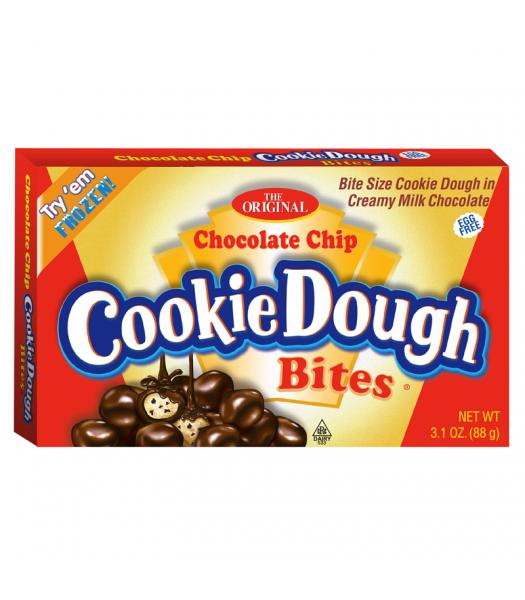 Cookie Dough Bites Chocolate Chip 3.1oz (88g) Theatre Box Chocolate, Bars & Treats Cookie Dough Bites