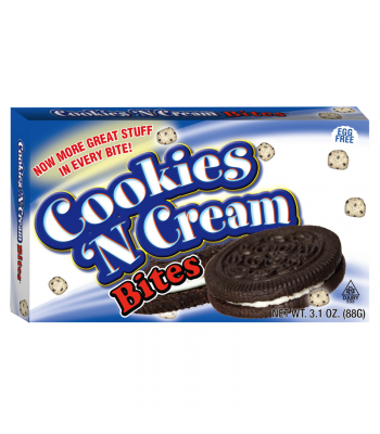 Cookies N Cream Bites 3.1oz (88g) Theatre Box Chocolate, Bars & Treats Cookie Dough Bites