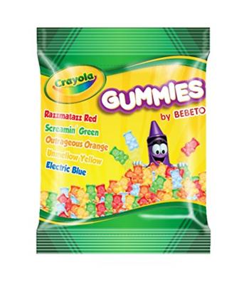 Crayola - Gummies Peg Bag - 3.5oz (70g) Soft Candy