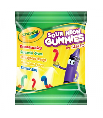 Crayola - Sour Neon Gummies - 3.5oz (99g) Soft Candy