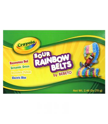 Crayola - Sour Rainbow Belts - 2.46oz (70g) Soft Candy