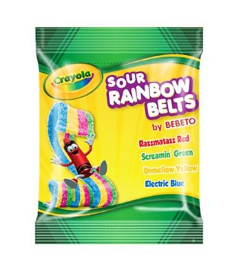 Crayola - Sour Rainbow Belts - 3.5oz (99g) Soft Candy