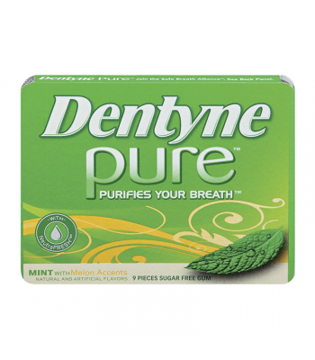 Clearance Special - Dentyne Pure Mint with Melon Accents 9-Piece **Best Before: October 19** Clearance Zone