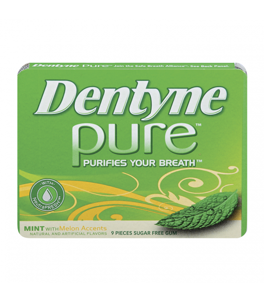 Dentyne Pure Mint with Melon Accents 9-Piece Sweets and Candy
