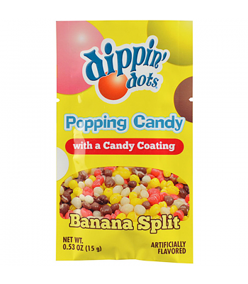 Dippin' Dots Popping Candy - Banana Split 0.53oz (15g) Hard Candy