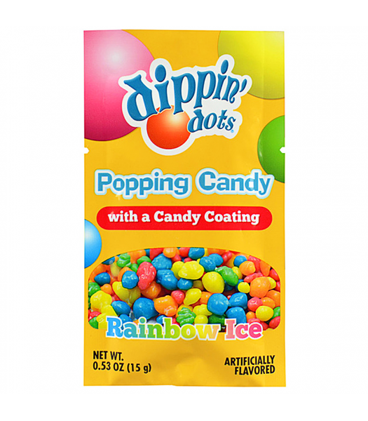 Dippin' Dots Popping Candy - Rainbow Ice 0.53oz (15g) Hard Candy