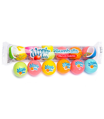 Dippin' Dots Gumballs - Filled with Candy Beads - 6 Ball Tube - 40.5g Bubble Gum