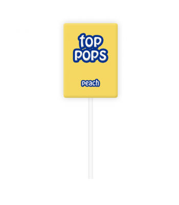 Dorval Top Pops Chewy Candy Lollipop - Peach Lollipops