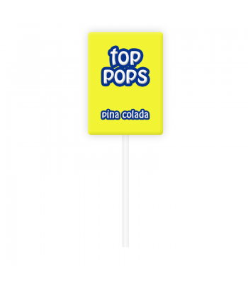 Dorval Top Pops Chewy Candy Lollipop - Pina Colada Novelty Candy