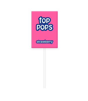 Dorval Top Pops Chewy Candy Lollipop - Strawberry