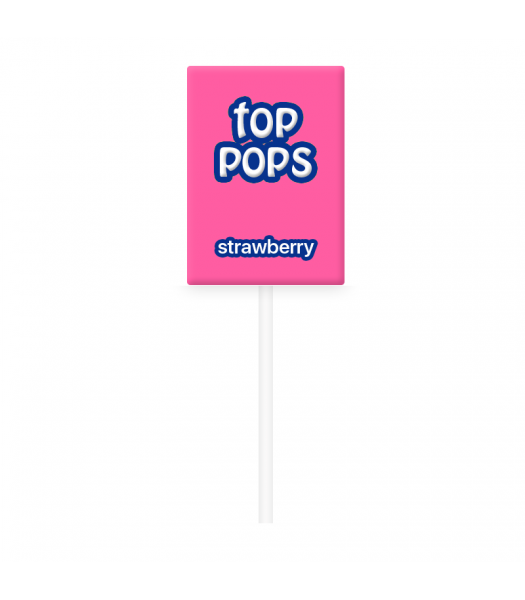 Dorval Top Pops Chewy Candy Lollipop - Strawberry Lollipops