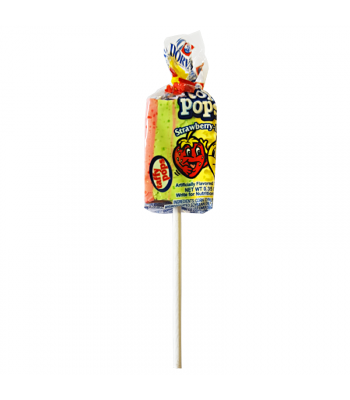 Dorval Top Pops Chewy Taffy Lollipop - Strawberry Lemon - 0.35oz (10g) Lollipops