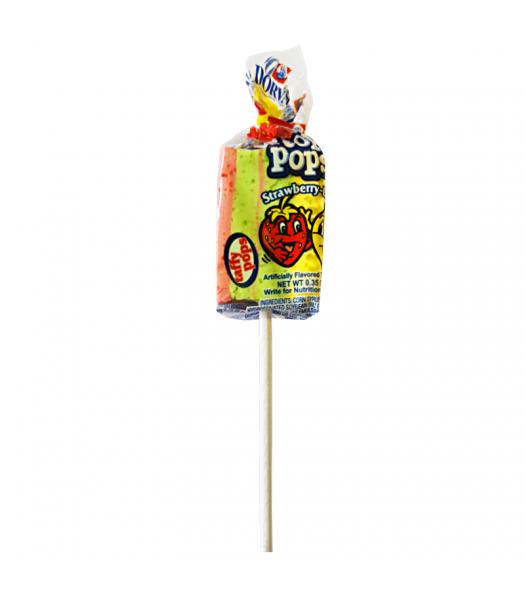 Dorval Top Pops Chewy Taffy Lollipop - Strawberry Lemon - 0.35oz (10g) Lollipops