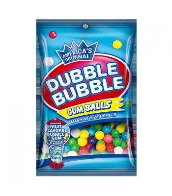 Dubble Bubble Gum Balls Assorted 5oz (141g) Bubble Gum Dubble Bubble