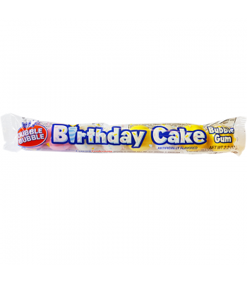 Dubble Bubble Birthday Cake Gum Balls 2.2oz (62g) Bubble Gum Dubble Bubble