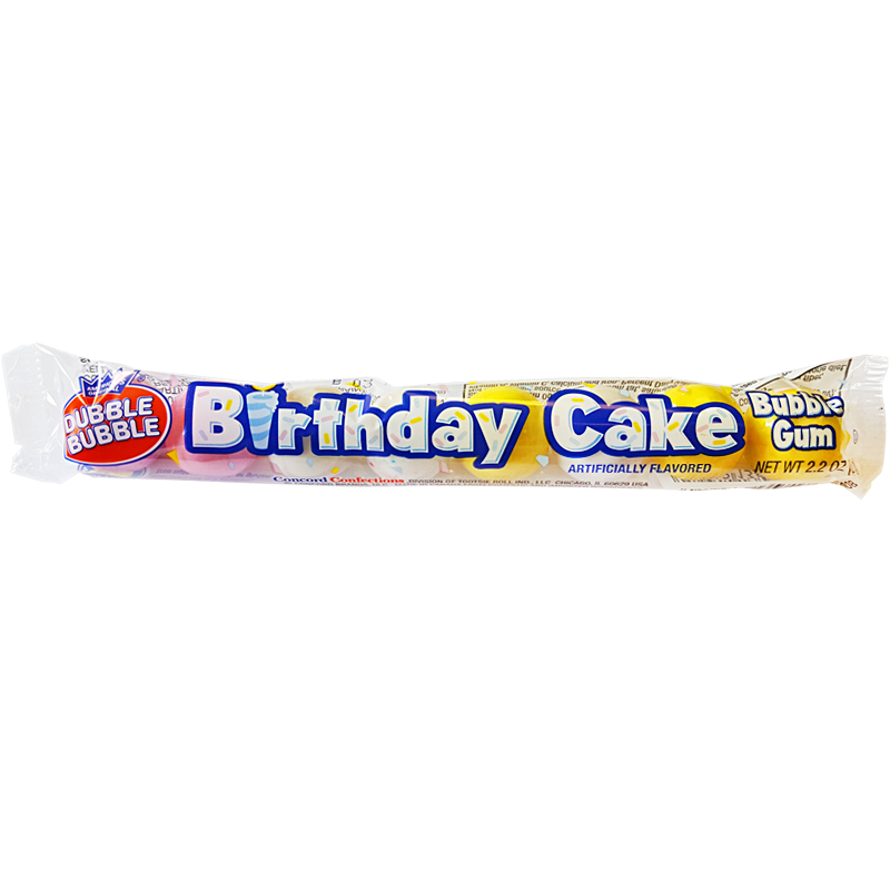 Dubble Bubble Birthday Cake Gum Balls 2.2oz (62g)